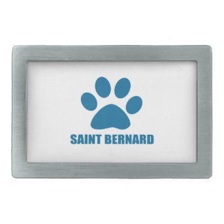 SAINT BERNARD DOG DESIGNS BELT BUCKLE