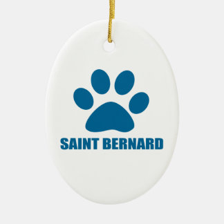 SAINT BERNARD DOG DESIGNS CERAMIC ORNAMENT