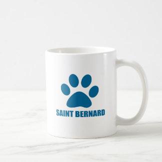 SAINT BERNARD DOG DESIGNS COFFEE MUG