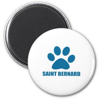 SAINT BERNARD DOG DESIGNS MAGNET