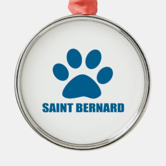 SAINT BERNARD DOG DESIGNS METAL ORNAMENT