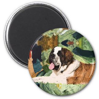 Saint Bernard Dog Magnet