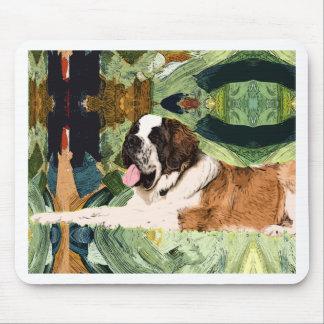 Saint Bernard Dog Mouse Pad