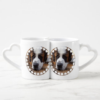 Saint Bernard Dog Couple Mugs