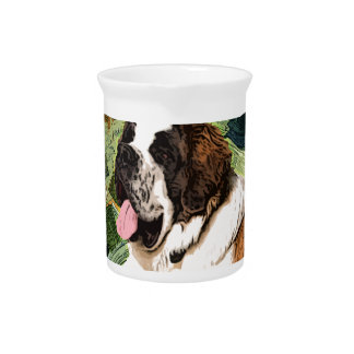 Saint Bernard Dog Pitcher