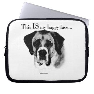 Saint Bernard Happy Face Laptop Sleeve