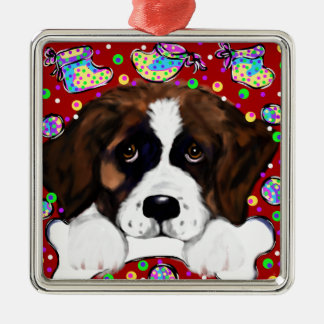 Saint Bernard Metal Ornament