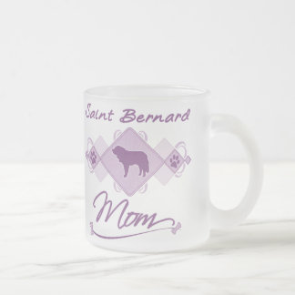 Saint Bernard Mom Frosted Glass Coffee Mug