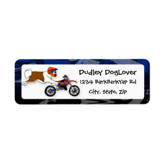 Saint Bernard Motocross Return Address Label
