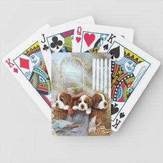 Saint Bernard Puppies Dog Playing Cards