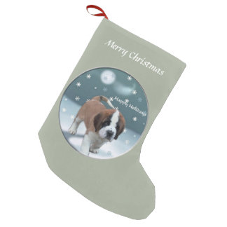 Saint Bernard Puppy Christmas Small Christmas Stocking