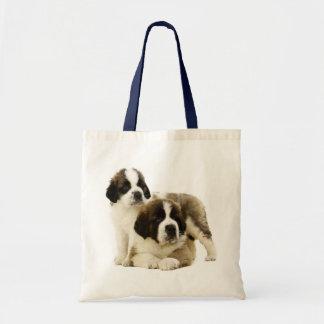 Saint Bernard Puppy Dog -  Love St. Bernard Tote Bag