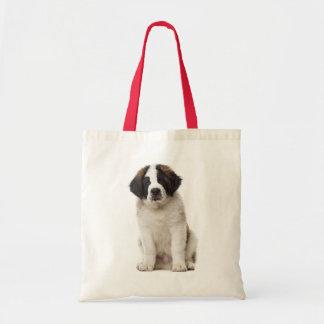 Saint Bernard Puppy Dog - St Bernard Love Tote Bag