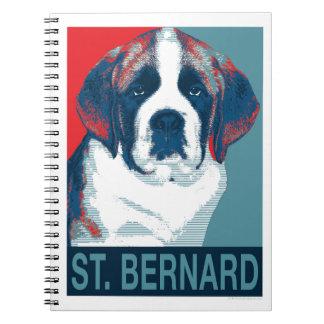 Saint Bernard Puppy Hope Political Parody Design Note Book