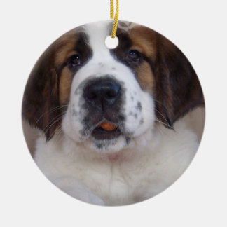 Saint Bernard Puppy Ornament