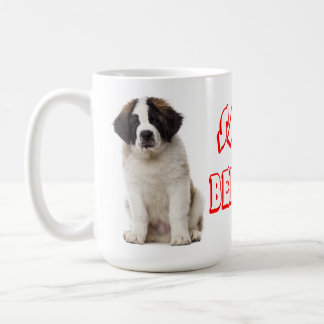 Saint Bernard Red Love Puppy Dog - St. Bernard Coffee Mug