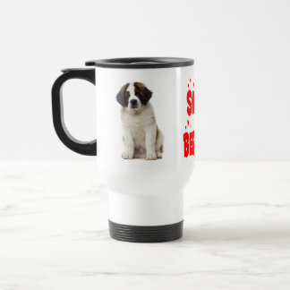 Saint Bernard Red Love Puppy Dog - St. Bernard Travel Mug
