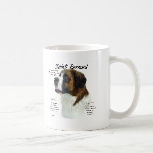 Saint Bernard (rough) History Design Coffee Mugs