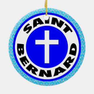 Saint Bernard Round Ceramic Decoration