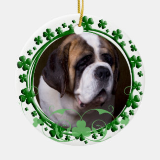 Saint Bernard St. Patrick's Day Ornament