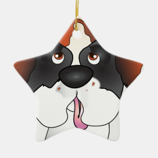 Saint Bernard Star Ornament