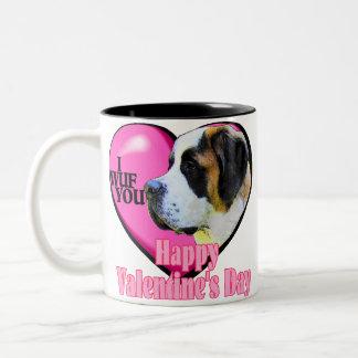 Saint Bernard Valentine s Day Mug