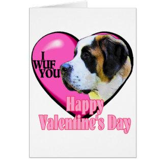 Saint Bernard Valentine's Day Greeting Card