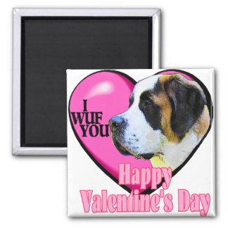 Saint  Bernard Valentine's Day Gifts Refrigerator Magnet