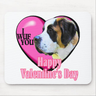 Saint  Bernard Valentine's Day Gifts Mouse Pad