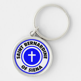 Saint Bernardine of Siena Silver-Colored Round Key Ring