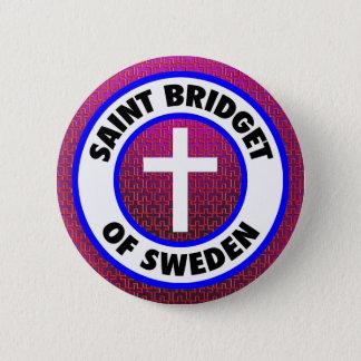 Saint Bridget of Sweden 6 Cm Round Badge