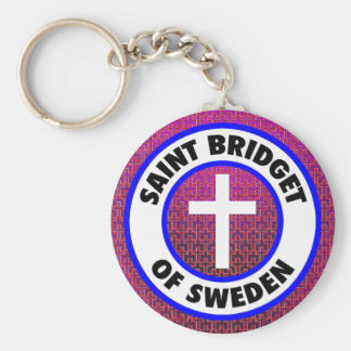 Saint Bridget of Sweden Key Ring