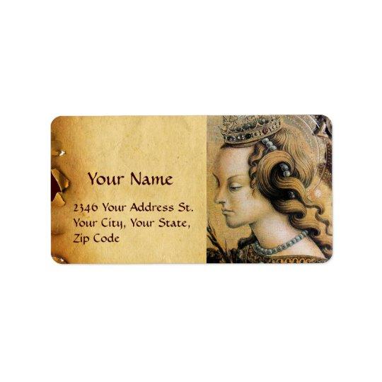 Saint Catherine of Alexandria Label