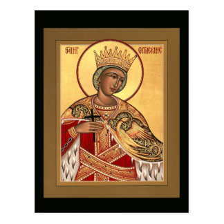 Saint Catherine Prayer Card Postcard