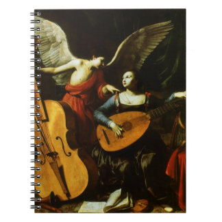 Saint Cecilia and the Angel by Carlo Saraceni Notebooks