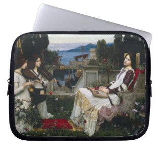 Saint Cecilia Serenaded by Angels with Violins Laptop Sleeve