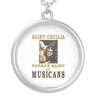 SAINT CECILIA SILVER PLATED NECKLACE