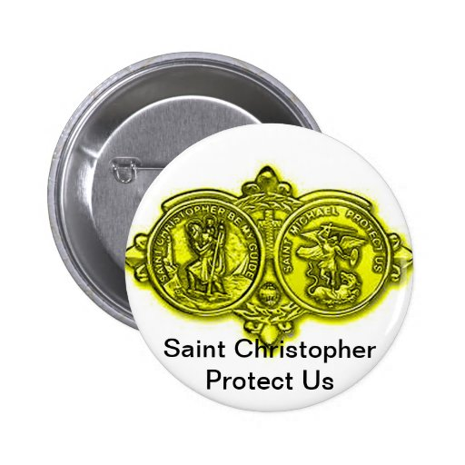 Saint Christopher Button