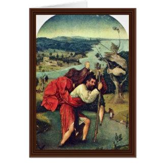 Saint Christopher. By Hieronymus Bosch (Best Quali Card