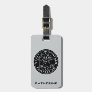 Saint Christopher Medal Luggage Tag