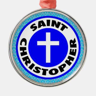 Saint Christopher Metal Ornament