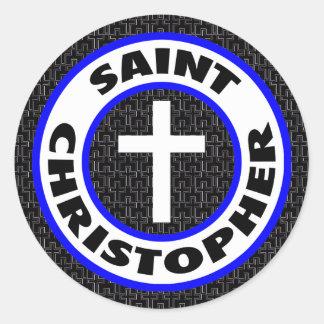 Saint Christopher Round Sticker