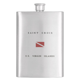 Saint Croix Scuba Dive Flag Hip Flask