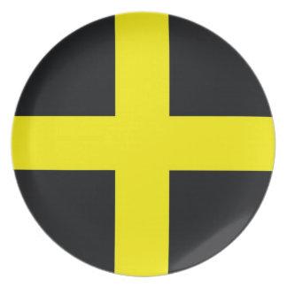 saint david cross flag united kingdom wales dinner plates