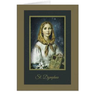 Saint Dymphna Anxiety Mental Health Nervousness Card