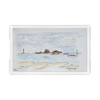 Saint-Enogat, Dinard | Brittany, France Acrylic Tray