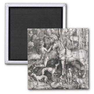 Saint Eustace Engraving by Albrecht Durer Refrigerator Magnets