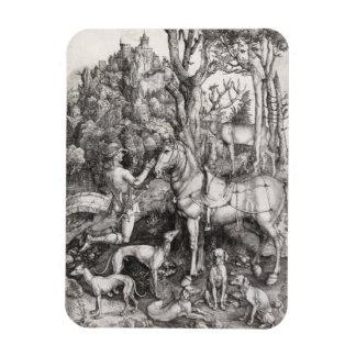 Saint Eustace Engraving by Albrecht Durer Flexible Magnet