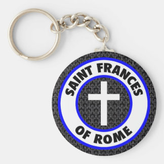 Saint Frances of Rome Basic Round Button Key Ring