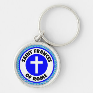 Saint Frances of Rome Silver-Colored Round Key Ring